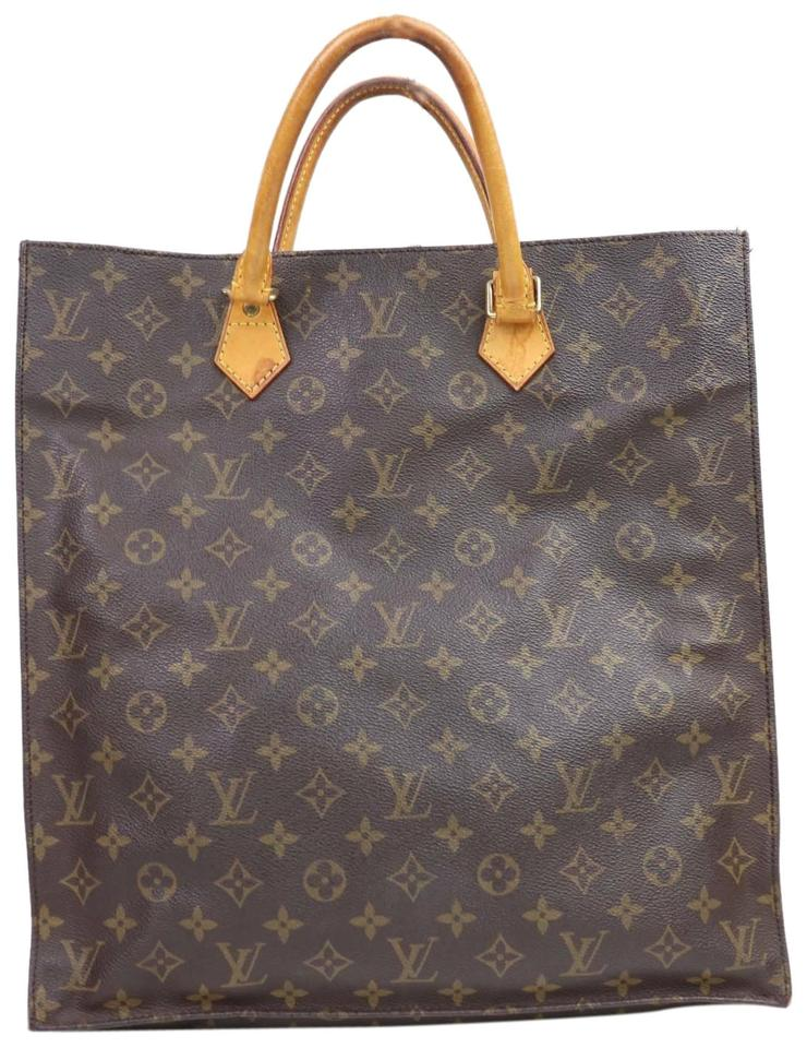 09af06a4bdca Louis Vuitton Sac Plat M51140 Monogram Handbag 11186 Brown Canvas ...