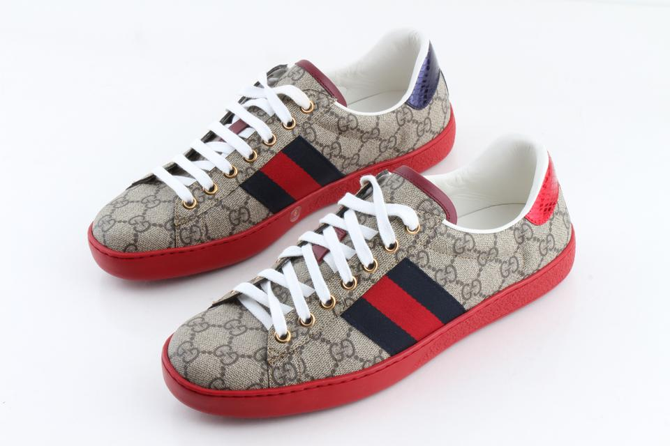 11afc2fb610 Gucci Multi Color Ace Gg Supreme Sneakers Shoes - Tradesy