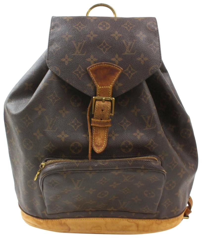 1ad13a041d7a Louis Vuitton M51135 Montsouris Gm Lv Backpacks Monogram Backpacks Brown  Diaper Bag Image 0 ...