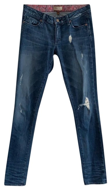 Item - Medium Rinse Distressed Skyline Rn #27002 Skinny Jeans Size 4 (S, 27)