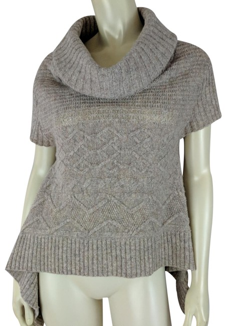 Item - Anthropologie Swing Asymmetric Hem Cowl Wool Nylon Tan Sweater