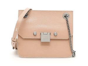 Jimmy Choo Leather Silver Chain Pink Cross Body Bag