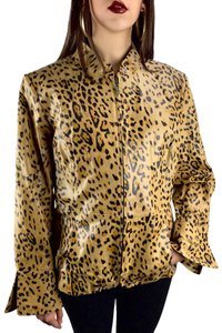 c25d4f1fe28f Pamela McCoy leopard Leather Jacket
