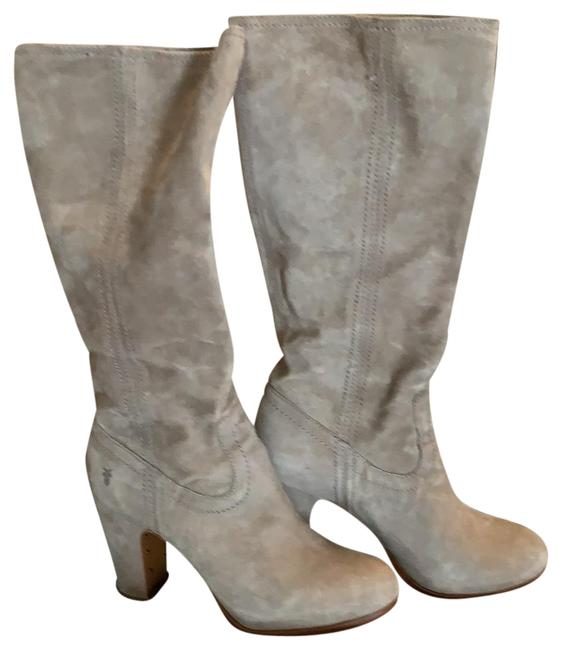 Item - Light Gray Almost Tan Stunning Suede Heeled Boots/Booties Size US 8 Regular (M, B)