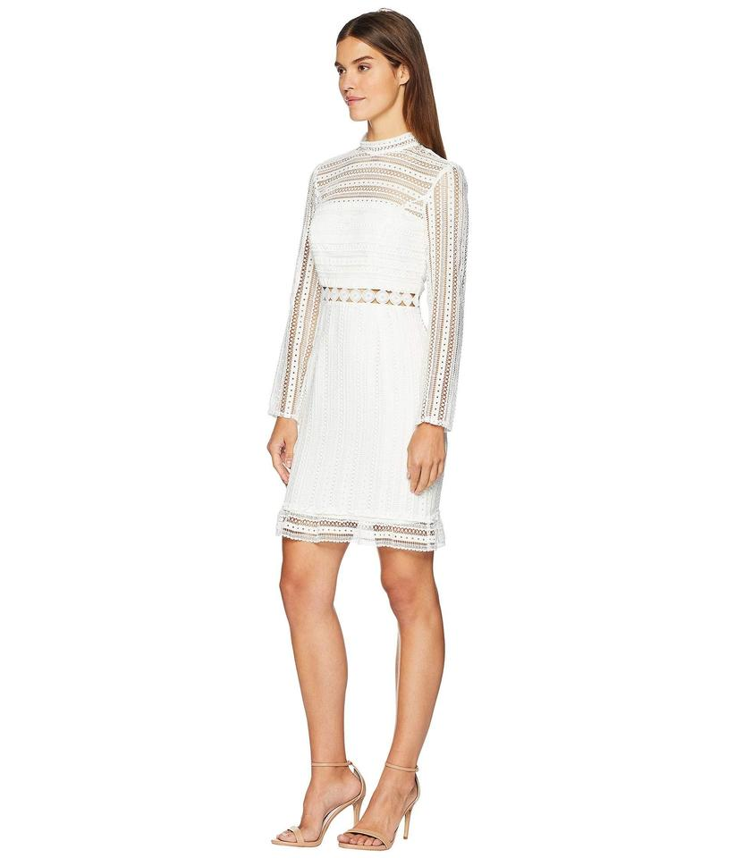 a9d912ef4ee Bardot White Vivian Splice Lace Long Sleeves Mid-length Cocktail ...