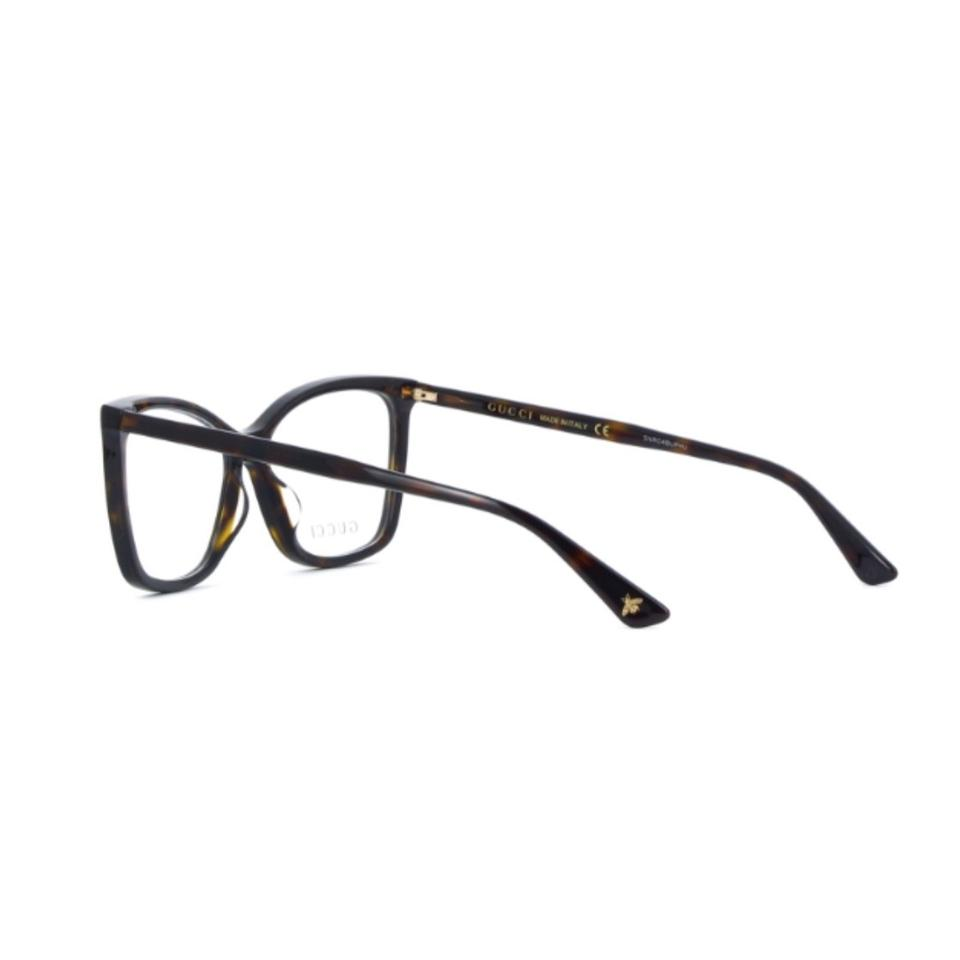 Gucci 002 Havana Gg0025o Lightweight Thin Acetate Cat Eye Optical ... 124c76a8536