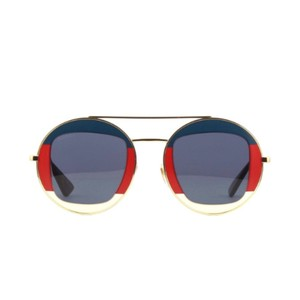 Gucci gg0105s Round Metal Double Bridge Aviator