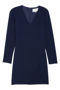 Charles Henry Sheath V-neck Longsleeve Lined Dress