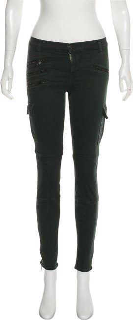 Item - Green Mid-rise Skinny Jeans Size 27 (4, S)