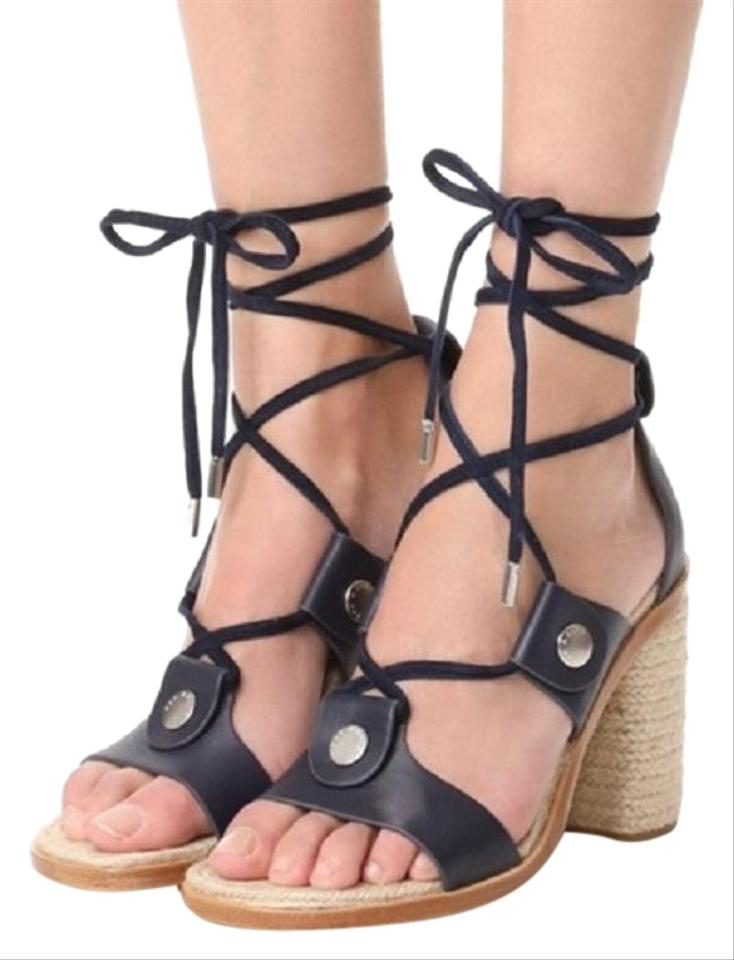 4caec351ee99 Rag   Bone Navy Eden Leather Gladiator Sandals. Size  US 11 Regular (M ...