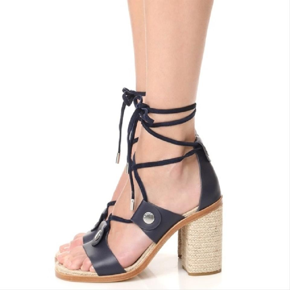 be3b1e8ebe93 Rag   Bone Navy Eden Leather Gladiator Sandals Size US 11 Regular (M ...