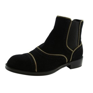 Louis Vuitton Lv Suede Fashion Made In Italy Black Boots