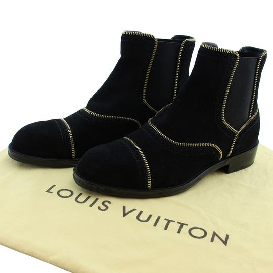 Louis Vuitton Lv Suede Fashion Made In Italy Black Boots Image 1