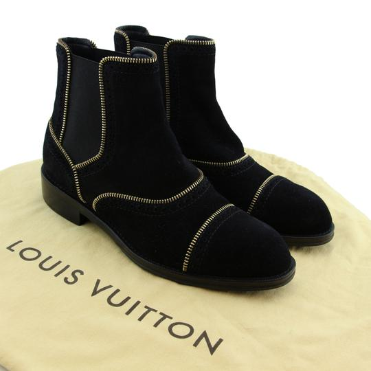 Louis Vuitton Lv Suede Fashion Made In Italy Black Boots Image 2