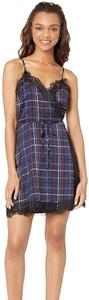 cupcakes and cashmere short dress blue, black, red plaid pattern on Tradesy