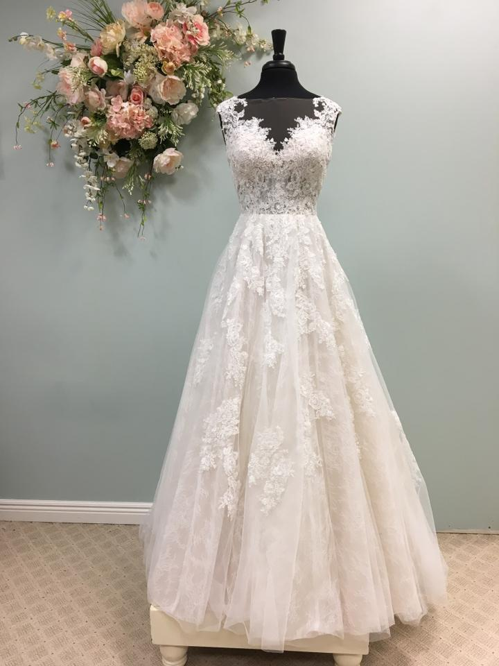 564b31afc628 Essense of Australia Ivory/Moscato Lace and Tulle D2347 Traditional Wedding  Dress