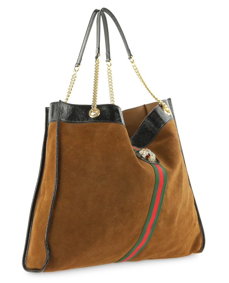 c5f62c02d545 Gucci Rajah Maxi Brown Suede Leather Tote - Tradesy