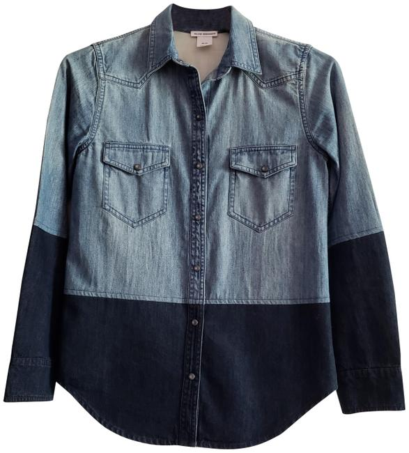 Preload https://img-static.tradesy.com/item/24792095/club-monaco-new-blue-denim-block-two-shades-with-pockets-and-pearlized-snaps-button-down-top-size-2-0-1-650-650.jpg