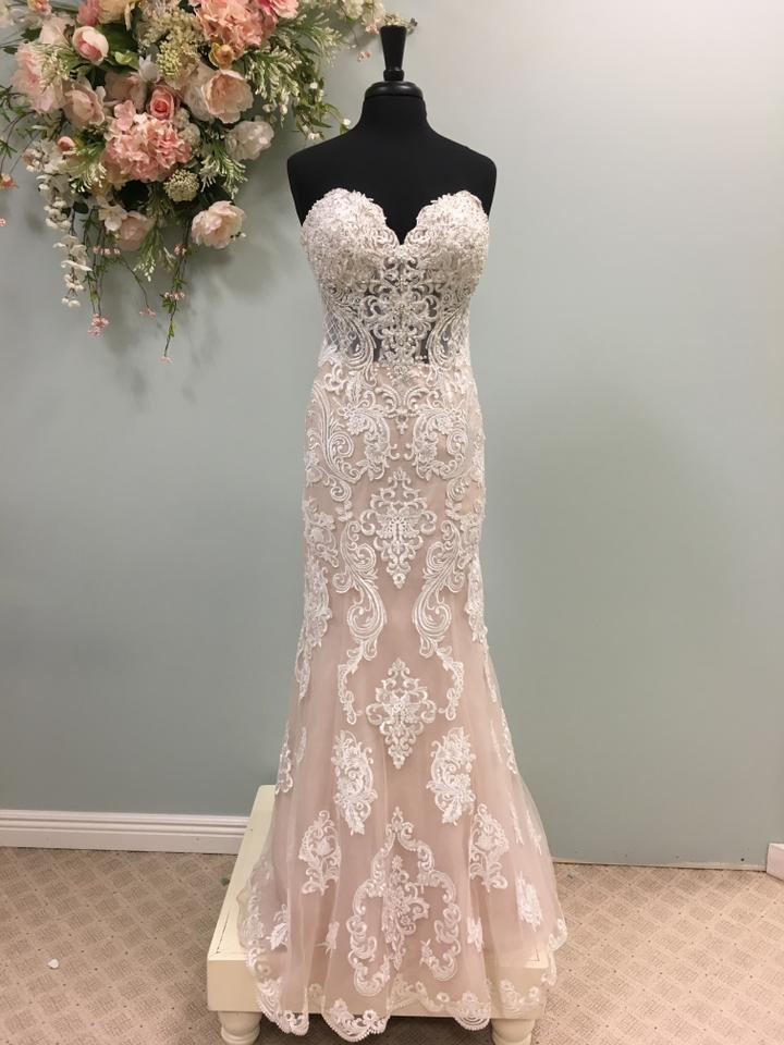 98a069f1f7ee Stella York Ivory/Moscato Lace and Tulle 6589 Traditional Wedding Dress.  Street Size: 10 ...