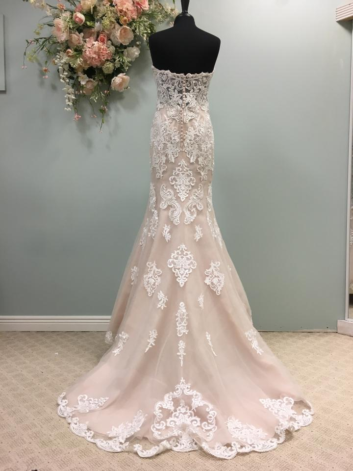 e384c7e68c76 Stella York Ivory/Moscato Lace and Tulle 6589 Traditional Wedding Dress  Size 10 (M. 1234