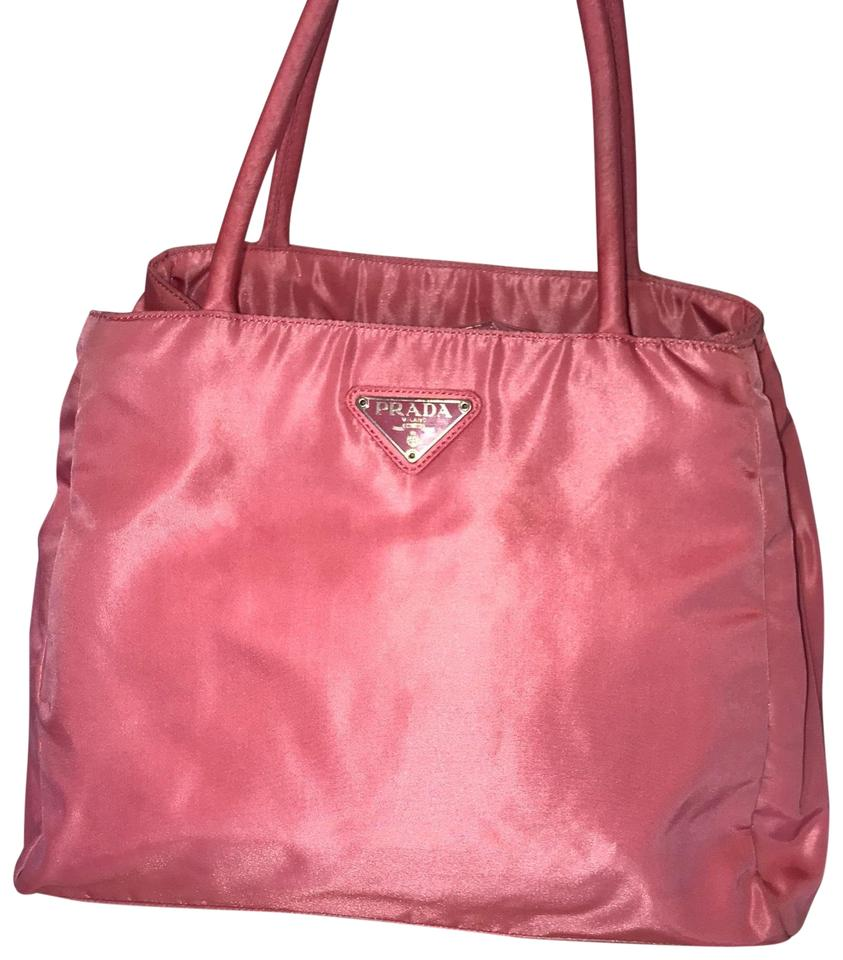2b268565c7017 Prada Medium Hot Pink Nylon Tote - Tradesy