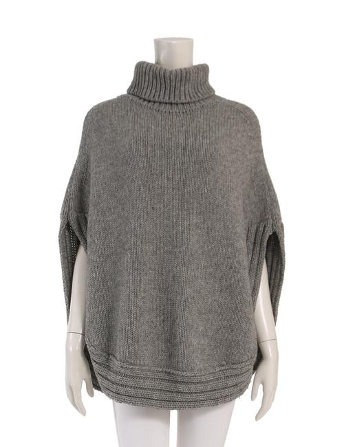 Item - Grey Camel Wool Poncho/Cape Size 2 (XS)