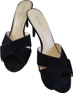 22aba83c38a Black Nine West Sandals - Up to 90% off at Tradesy