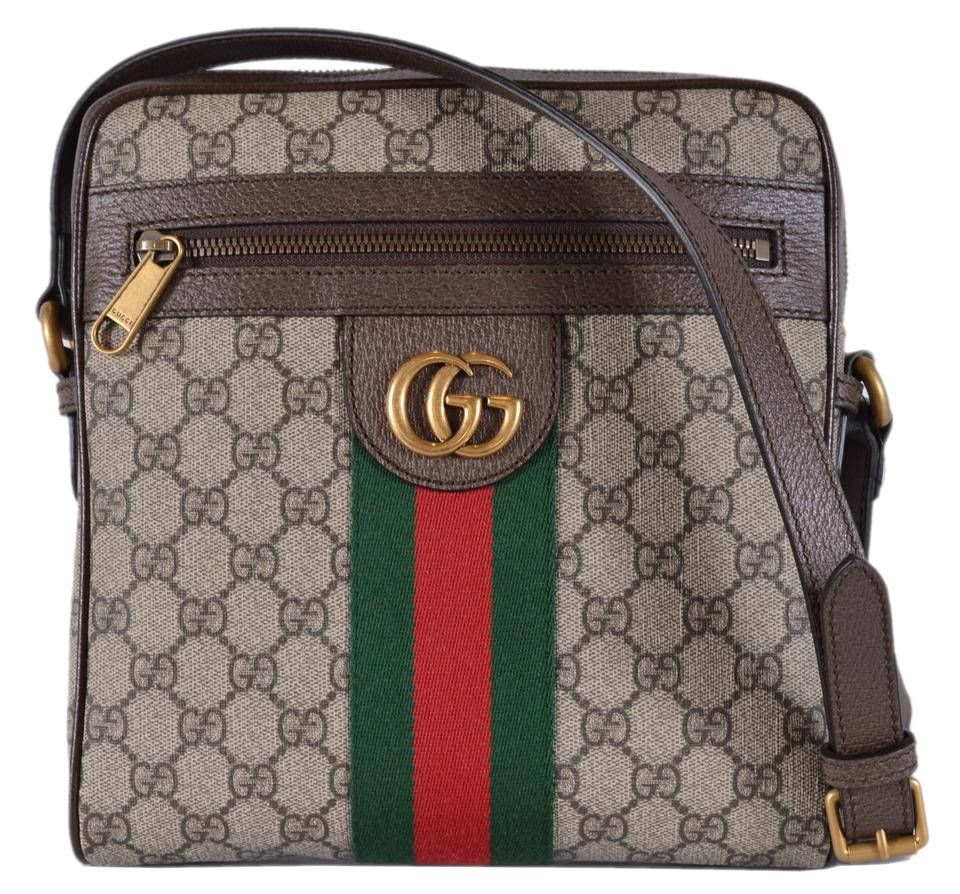 258e3100f8c86f Gucci Messenger Marmont Ophidia Web Green Web Small Purse Multicolor ...