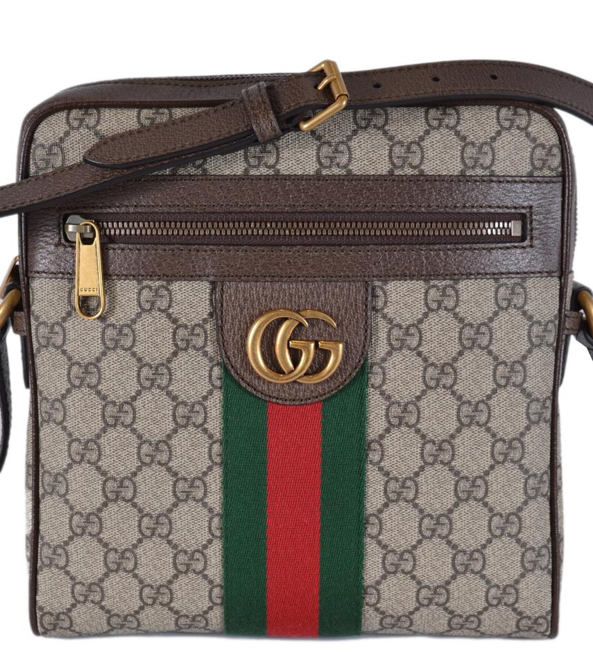 bdaa650ebe2a22 Gucci Messenger Marmont Ophidia Web Green Web Small Purse Multicolor Gg  Supreme Coated Canvas Cross Body Bag - Tradesy