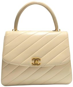 Chanel Different Classic Square Box Small Satchel in Beige