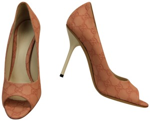 ef0c780e8a1 Gucci Pink Rose Guccissima Gg Leather White Heel Sandals 247521 Pumps Size  EU 38.5 (Approx. US 8.5) Regular (M, B) 62% off retail
