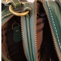 Frye Never Used Round Double Zipper Compartments Adjustable Strap Green Leather Cross Body Bag Frye Never Used Round Double Zipper Compartments Adjustable Strap Green Leather Cross Body Bag Image 3