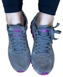 Reebok gray with purple soles Athletic