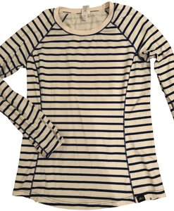 New Balance NEW BALANCE FOR JCREW IN-TRANSIT T-SHIRT IN STRIPE SIZE M NAVY IVORY