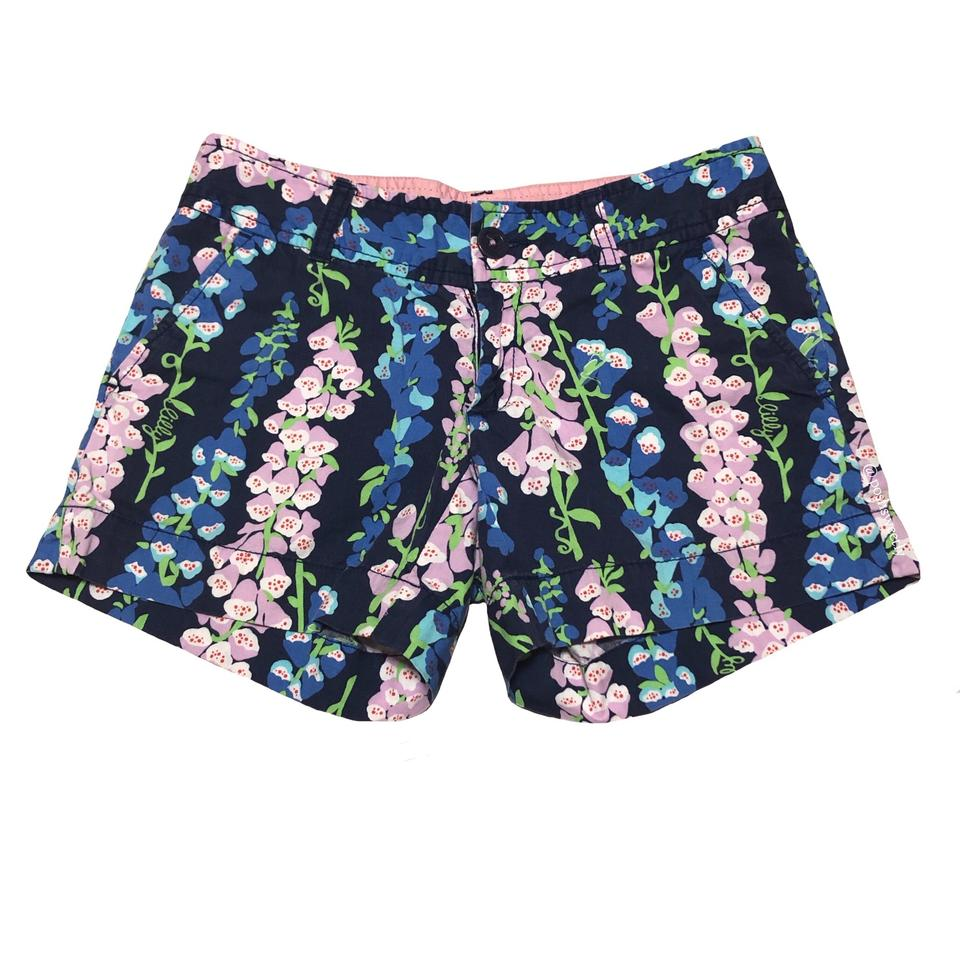 47ef2658768118 Lilly Pulitzer Blue Green Pink Wisteria Callahan Shorts Size 00 (XXS ...