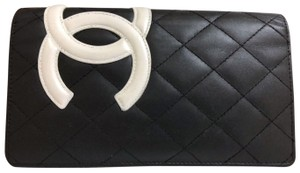 Chanel Chanel Black/White Cambon Ligne Long Wallet for Women/Men