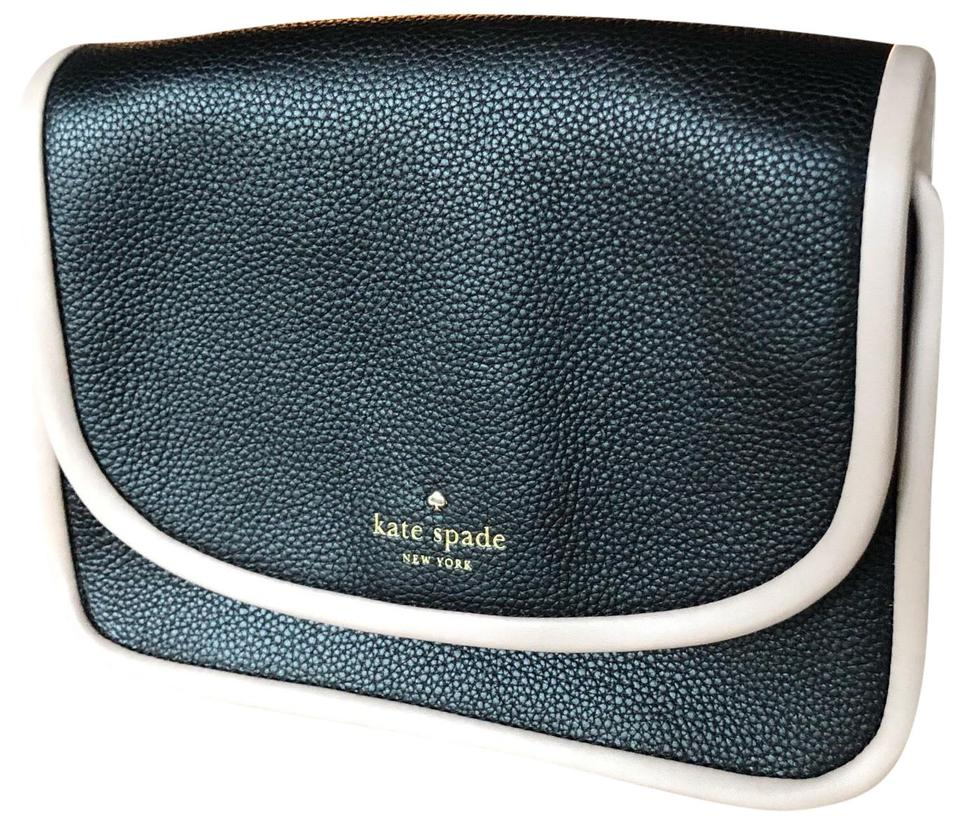 613248ca4dbf Kate Spade Ward Place Ivy Black and Pink Leather Cross Body Bag ...