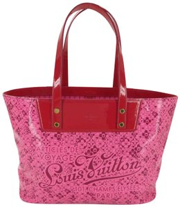 Louis Vuitton Shopper Flower Roses Sprouse Graffiti Tote in Pink
