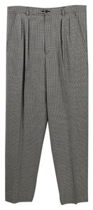 Saint Laurent Checkered Fall Winter Luxury Wool Trouser Pants Black/White