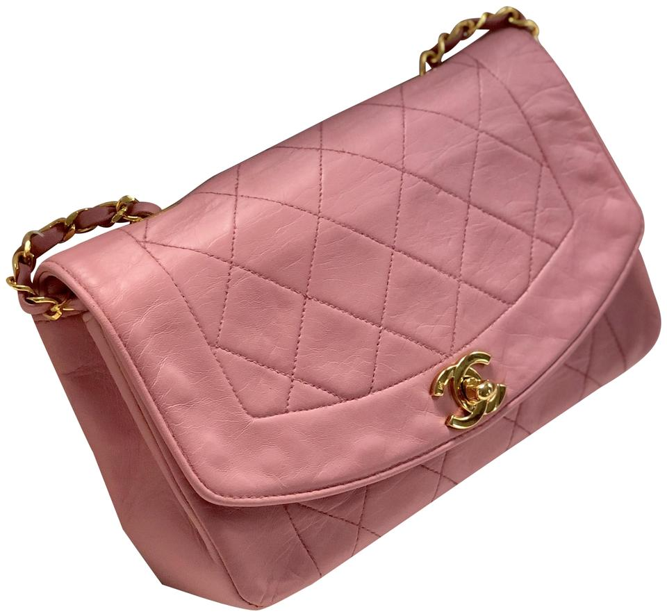 619e675e18cb Chanel 2.55 Reissue Diana Rare Quilted Pink Lambskin Leather ...
