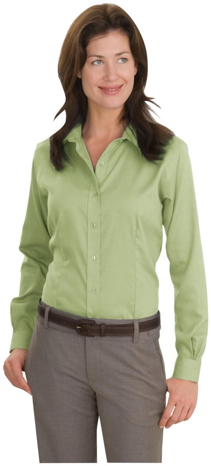 a61f0032f Jones New York Fitted Silhouette Pointed Collar Front No Iron Fabric Long  Sleeves Button Down Shirt ...