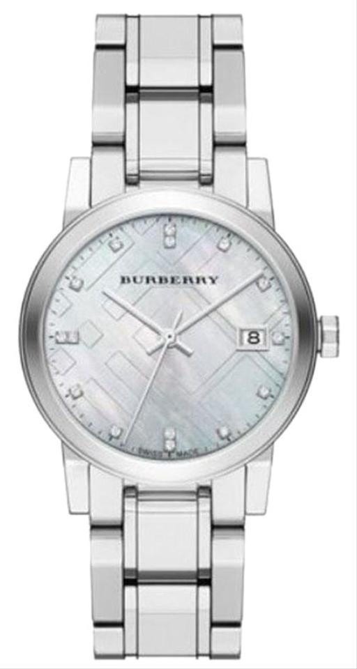 4ea70b30b785 Burberry New Burberry Diamond Accent Stainless Steel Ladies Watch BU9125  Image 0 ...