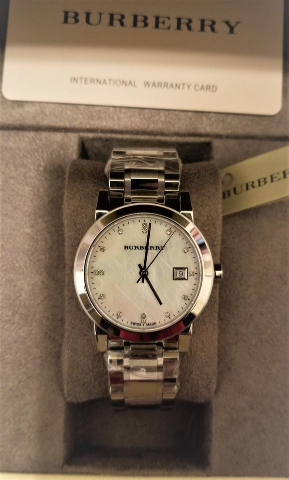 1904d83e8db6 Burberry New Burberry Diamond Accent Stainless Steel Ladies Watch BU9125  Image 6. 1234567