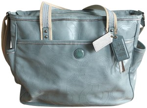 3e8bf1e5c6fe Coach Light Blue Patent Leather Diaper Bag - Tradesy