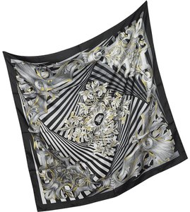 Versace VERSACE Optical Print Silk Square Scarf