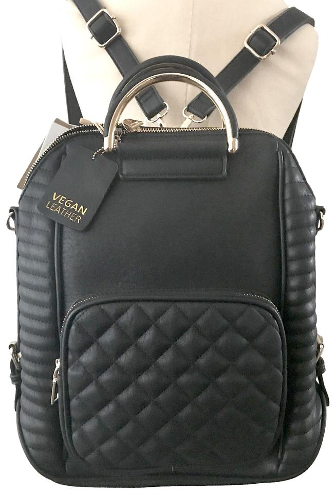 how to serch fashion style of 2019 professional website Miztique Convertible Black Vegan Leather Backpack 47% off retail