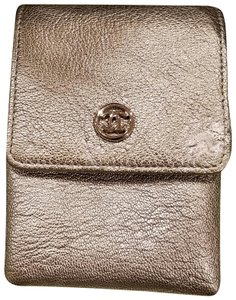 Chanel Classic Leather Vintage Silver Travel Bag