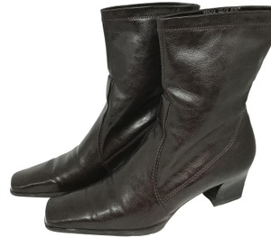 Franco Sarto Slip On Ankle Brown Boots