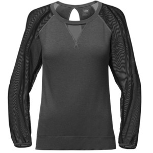 The North Face The North Face Vision Pullover Mesh Black Gray Top