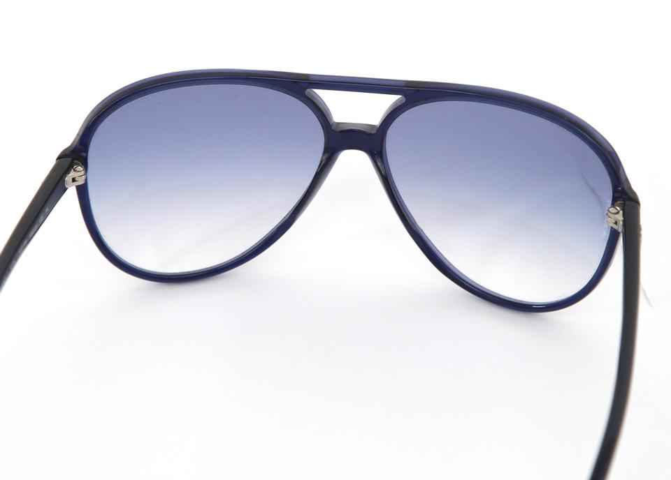438aac098f7f7 Chanel CHANEL Blue Aviator Sunglasses Acetate Frame Gradient Lens Silver  5206 Image 4. 12345